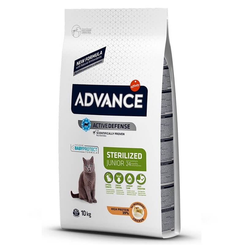 Advance Junior Sterilized Tavuklu Kısır Kedi Maması 10Kg