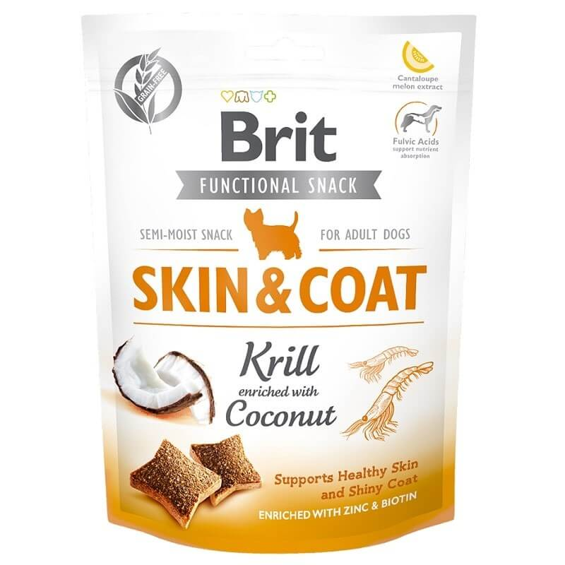 Brit Care Function Snack Skin Coat Krill Köpek Ödülü 150gr