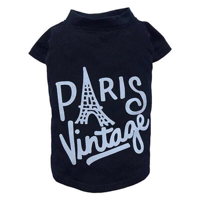 Doggy Dolly Vintage Paris Tshirt Siyah 2XL