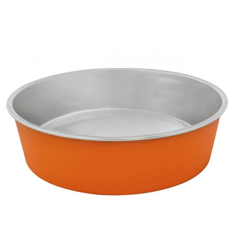 Duvo+ Feeding Bowl Matte Mama Ve Su Kabı 240ml Orange