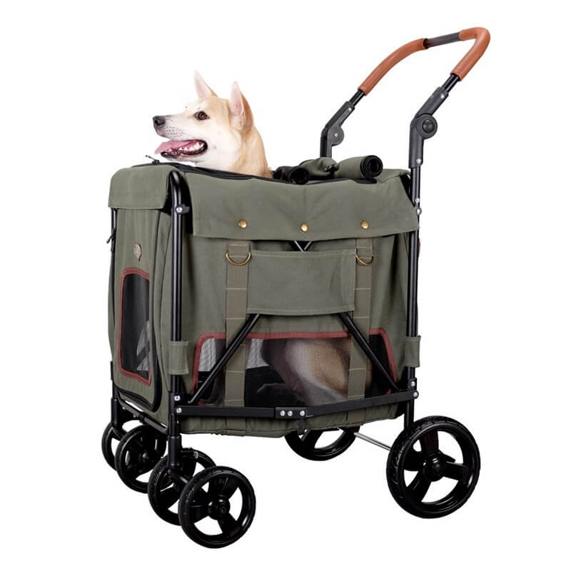 İbiyaya Gentle Pet Wagon Army Green Köpek Puseti
