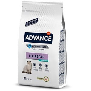 Advance Cat Sterilized Hairball Hindili Kısır Kedi Maması 1,5 Kg