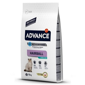 Advance Cat Sterilized Hairball Hindili Kısır Kedi Maması 10Kg