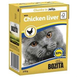 Bozita Chunks İn Jelly With Chicken Liver Kedi Maması 370 Gr