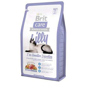 Brit Care Lilly  Sensitive Kuzu ve SomonluTahılsız Kedi Maması 2 Kg