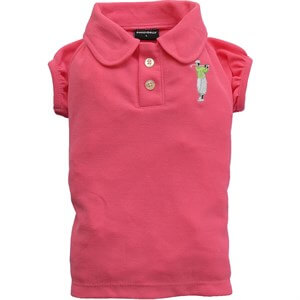 Doggy Dolly Polo Yaka Köpek Tshirt Pembe XS