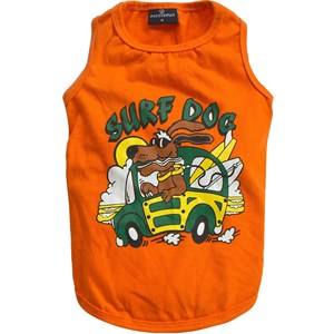 Doggy Dolly Surf Dog Orta Boy Köpek Tişörtü Turuncu Large