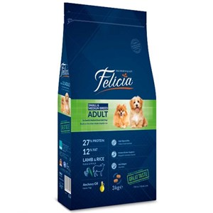 Felicia Small&Medium Breed Kuzulu Köpek Maması 3 kg