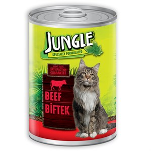 Jungle Biftekli Kedi Konservesi 415 Gr