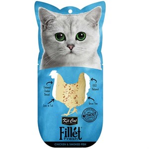 Kit Cat Fillet Fresh Chicken & Smoked Fish Fileto Kedi Maması 30g