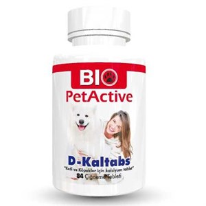 Pet Active D-Kaltabs 84 Tab Kedi ve Köpek Kalsiyum Tableti
